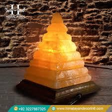 Large Pyramid Salt Lamp by Himalayan Salt Lamps Pyramid Shape With Lines Himalayan Decor
