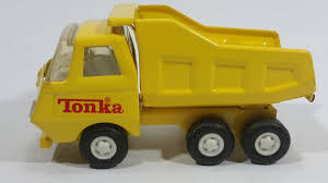 Vintage Tonka Yellow Dump Truck 55010 Pressed Steel Construction ...