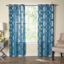 mayra metallic light filtering curtain panels products