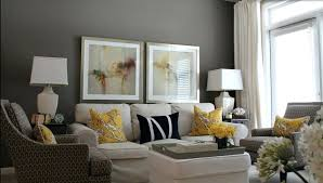 Grey Walls Brown Furniture Great Room With Sofa And