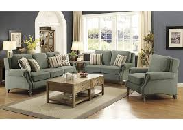 iDeal Furniture Farmingdale Light Sage Sofa and Loveseat