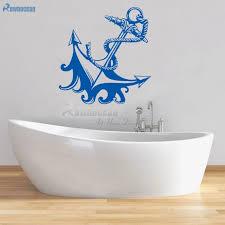 nautischen wohnkultur anker wand aufkleber bad möbel kinder dekorative vinyl fliesen tür wandmalereien kinder tapete c 18