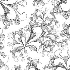 Abstract Doodle Style Background On White For Advertising Something Or Template Coloring Page Relax Book