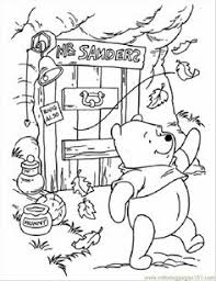 Pooh In Windy Day Coloring Page For Kids And Adults From Cartoons Pages Winnie The