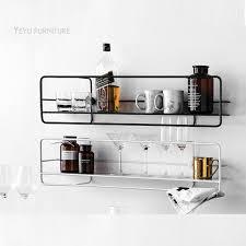 Modern Loft Design Wall Mounted Metal Shelf Display Show Shelves Nice Decoration Rack Storage Holders Racks In