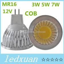 cob mr16 3w 5w 7w dimmable 12v led bulb warm cool white mr16 led