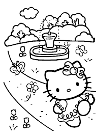 Hello Kitty Coloring Pages Printable A Colorier