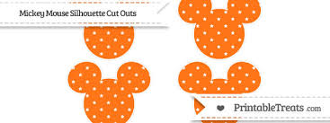 Mickey Mouse Pumpkin Stencils Free Printable by Pumpkin Orange Star Pattern Small Mickey Mouse Silhouette Cut Outs