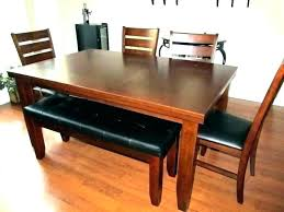 Dining Room Table Bench Kitchen With Back Tables
