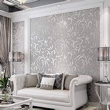3d deko tapete schlafzimmer matt silber blume wand papier metallic tapete für küche deko wohnzimmer mattes silber