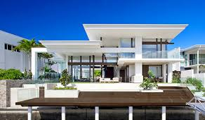 The Waterfront House Designs by Gorgeous Riverhouse Mooloolah Island S Stylish Waterfront Home
