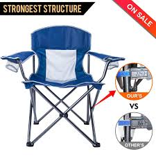 100 Oversized Padded Folding Chairs LCH Outdoor Camping Chair Support 300lbs