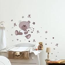 autocollant chambre bébé dessin pour chambre bebe 4 stickers chambre bebe ourson modern aatl