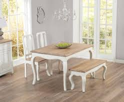 Shabby Chic Dining Room Furniture Uk by Parisian 130cm Shabby Chic Dining Table With Chairs And Benches