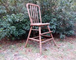 vintage wood high chair etsy