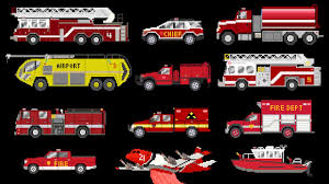 100 Red Fire Trucks Vehicles Emergency Vehicles The Kids Picture Show Fun Educational