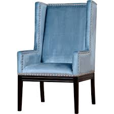 Upholstered Dining Chairs With Nailheads by Tov Furniture Tov Tri Nv Tribeca Blue Velvet Wing Chair W