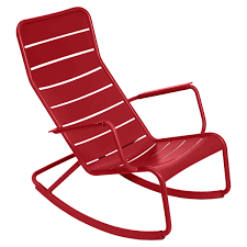 Fermob - Luxembourg Rocking Chair, Poppy-red Charleston Acacia Outdoor Rocking Chair Soon To Be Discontinued Ringrocker K086rd Durable Red Childs Wooden Chairporch Rocker Indoor Or Suitable For 48 Years Old Beautiful Tall Patio Chairs Folding Foldable Fniture Antique Design Ideas With Personalized Kids Keepsake 3 In White And Blue Color Giantex Wood Porch 100 Natural Solid Deck Backyard Living Room Rattan Armchair With Cushions Adams Manufacturing Resin Big Easy Crp Products Generations Adirondack Liberty Garden St Martin Metal 1950s Vintage Childrens