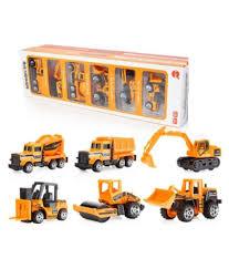 100 Construction Trucks Allamwar Die Cast Metal Automobiles Toy Set Mini Cars Vehicles Pull Back Push Friction Toys 6 Pcs For Boys