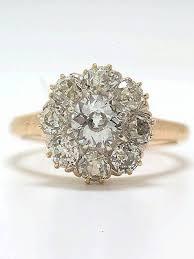 Antique Victorian Old European Cut Diamond Engagement Ring RG 2870