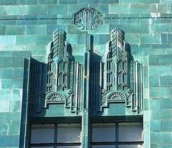 deco tile facade of the i magnin building in downtown oakland