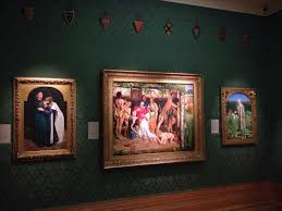The Pre Raphaelite Galleries At Ashmolean Museum From Left To Right Millais