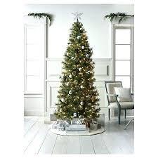 Pre Lit Artificial Trees Target Tree Slim Pine Clear Lights