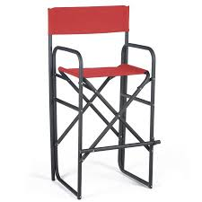 Aluminum Directors Chair Bar Height by 30 5 Inch Black Frame Bar Height Directors Chair Walmart Com
