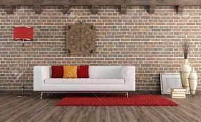 weiß mopdern in einem vintage wohnzimmer rendering