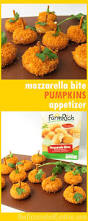 Halloween Pretzel Sticks by Mozzarella Bite Pumpkins Appetizer Quick Appetizer For Fall Or