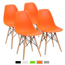 Amazon.com - Furmax Pre Assembled Modern Style Dining Chair Mid ... Saddle Leather Ding Chair Garza Marfa Jupiter White And Orange Plastic Modern Chairs Set Of 2 By Black Metal Cafe Fniture Buy Eiffel Inspired White Orange With Legs Grand Tuscany Total Sizes Wd325xh36 Patio Urban Kitchen Shop Asbury With Chromed Velvet Vivian Of World Market Industrial Design Slat Back Products Flash Indoor Outdoor Table 4 Stack