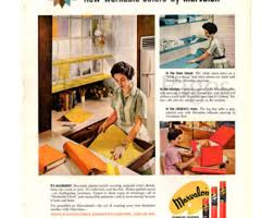 1960 Marvalon Decorative Coverings Vintage Ad 1960s Decor Housewife Retro Shelf Liners