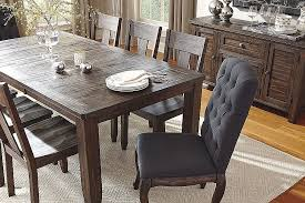 High Ashley Furniture Kitchen Table Sets New Trudell Dark Brown Rectangular Extendable Dining From Hd