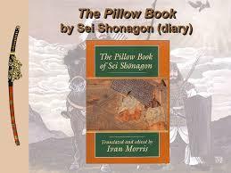 5 The Pillow Book by Sei Shonagon diary