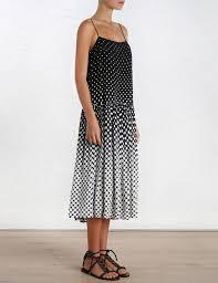 zimmermann lotte gradating dot sun dress in black lyst