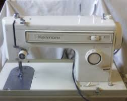 Vintage Kenmore Sewing Machine In Cabinet by Vintage Kenmore Sewing Machine Etsy