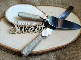 The Original Wedding Cake Server Set Personalized Rustic