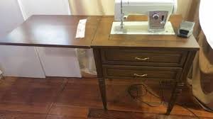 vintage sears kenmore cabinet sewing machine table model 158 17501
