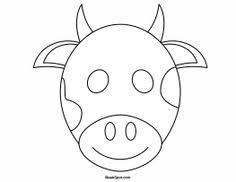 Printable Cow Mask To Color More