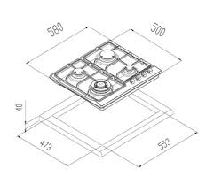 Blanco CG604WXFFC 60cm Natural Gas Cooktop