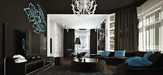 déco canapé noir décoration salon moderne en noir pour un intérieur