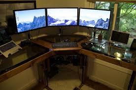 ordinateur de bureau pour gamer bureau gamer meuble