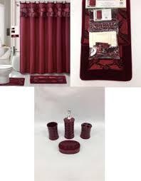 Leopard And Red Bathroom Decor by Bathroom Accessories Modern Black Purple Red Ebay