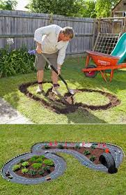 Backyard DIY Race Car Tracks Your Kids Will Love Instantly | Play ... Delightful Backyard Garden Ideas Inside Likable Best Do It 12 Diy Aquaponics System For Indoor And The Self Decorating Rabbit Hutches Comfortable Home Your Small Pets Pink And Green Mama Makeover On A Budget With Help Discovering World Through My Sons Eyes Play 25 Unique Kids Play Spaces Ideas Pinterest 232 Best Nature Images Area Diy Projects Interesting Outdoor Designs Barbecue Bloghop Kid Blogger Playground Decoration