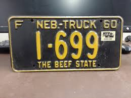 1961 NEBRASKA TRUCK License Plate Tag Original - $29.99 | PicClick