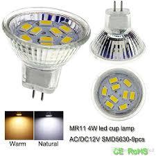 mr11 led cool white bulb smd5630 glass cup light 12 v led light