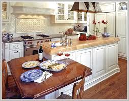 Kitchen Island With Lower Table Attached