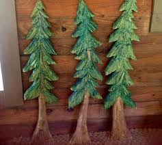 Pine Tree Sculpture Chainsaw Carving Evergreen Indoor Outdoor Wall Mount Primitive Rustic Home Decor Country Living Log Cabin Art By On Etsy