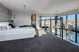 Design And Construction Nyc Luxury Penthouses Bedroom With View Of New York City Skyline