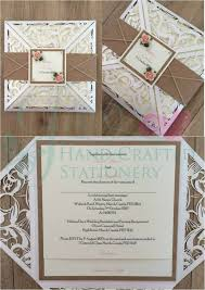Rustic Belly Band Laser Cut Wedding Invitation With Hessian And Peach Mulberry Roses Jenshandcraftedstationerycouk